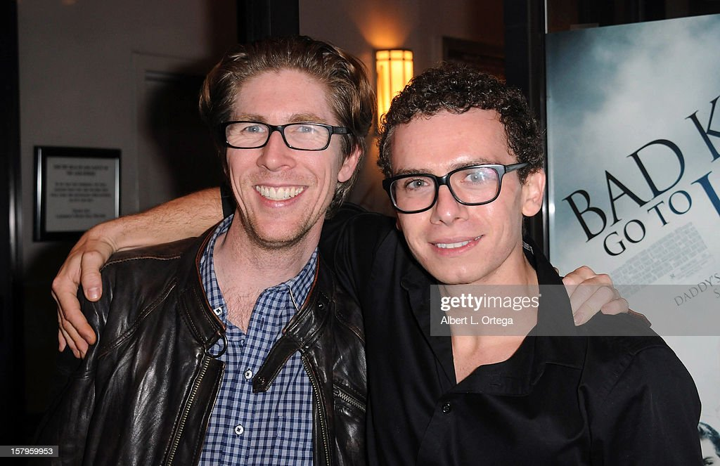 Director Matthew Spradlin and actor Marc Donato arrive for the Screening Of 'Bad Kids Go To Hell' held at Laemmle Music Hall Theater on December 7, 2012 in Beverly Hills, California.