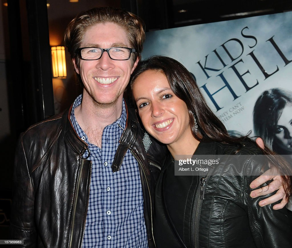 Director Matthew Spradlin and actress Dana Braziel-Solovy arrive for the Screening Of 'Bad Kids Go To Hell' held at Laemmle Music Hall Theater on December 7, 2012 in Beverly Hills, California.