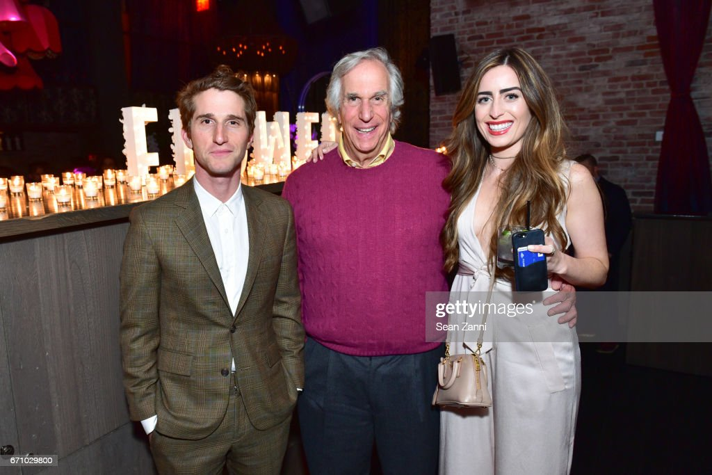 Director Max Winkler, Henry Winkler and Emily Siegel attend the after party of the premiere of FLOWER for the Tribeca Film Festival at TAO Downtown on April 20, 2017 in New York City.