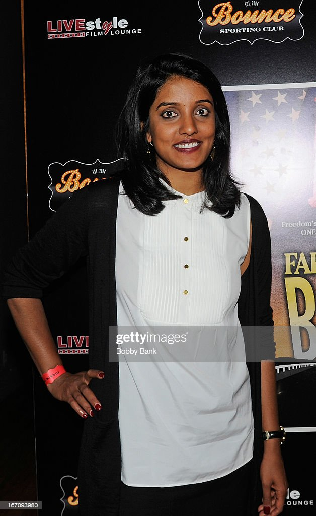 Director <a gi-track='captionPersonalityLinkClicked' href=/galleries/search?phrase=Meera+Menon&family=editorial&specificpeople=10584591 ng-click='$event.stopPropagation()'>Meera Menon</a> attends the 'Farah Goes Bang' after party during the 2013 Tribeca Film Festival at Bounce Sporting Club on April 19, 2013 in New York City.