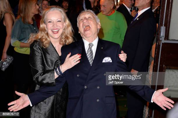 Director Mel Brooks and choreographer Susan Stroman attend the opening night of 'Mel Brooks' Young Frankenstein' at Garrick Theatre on October 10...