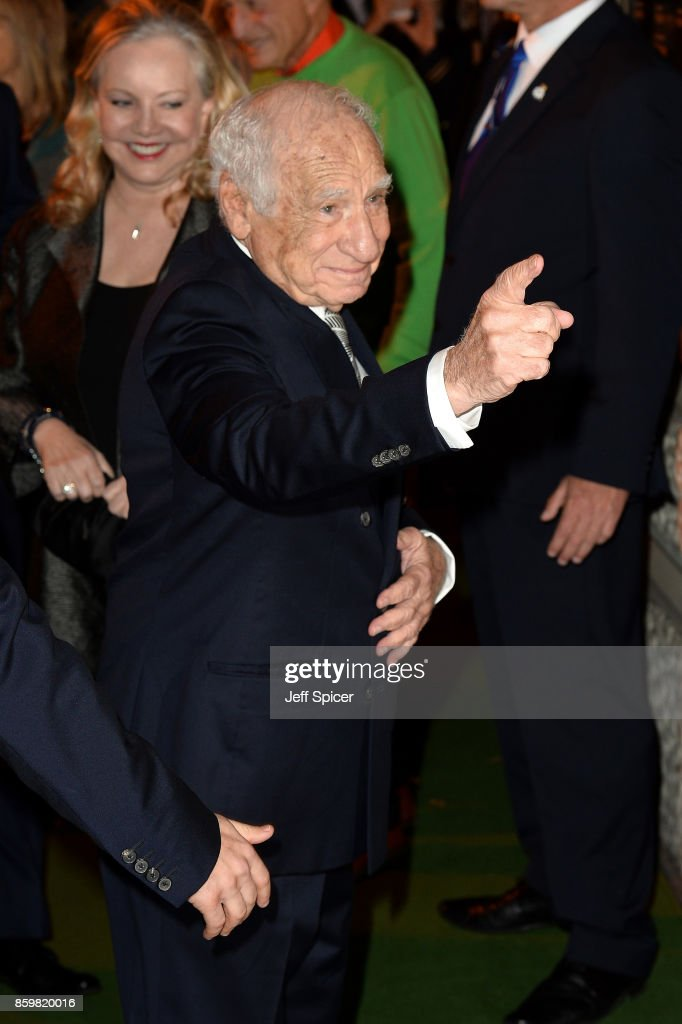 Director Mel Brooks attends the opening night of 'Mel Brooks' Young Frankenstein' at Garrick Theatre on October 10, 2017 in London, England.