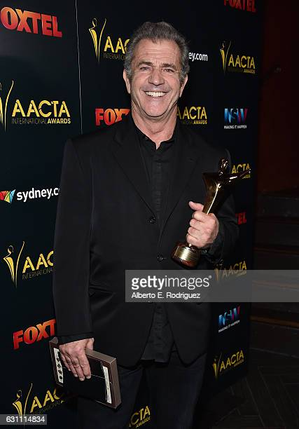 Director Mel Gibson attends the 6th Annual AACTA International Awards at Avalon Hollywood on January 6 2017 in Los Angeles California