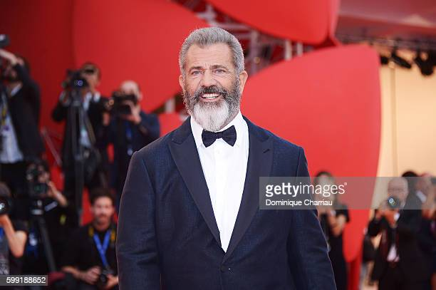 Director Mel Gibson attends the premiere of 'Hacksaw Ridge' during the 73rd Venice Film Festival at Sala Grande on September 4 2016 in Venice Italy