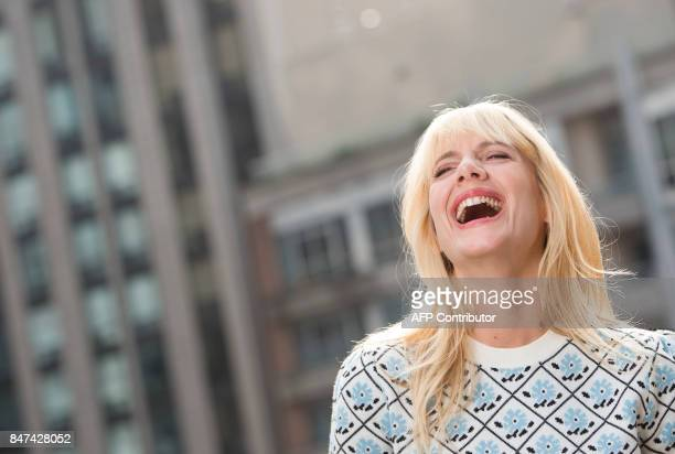 Director Melanie Laurent poses during a photo session at the 2017 Toronto International Film Festival September 15 in Toronto Ontario / AFP PHOTO /...