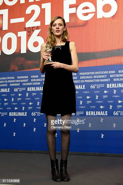 Director Mia HansenLove winner of the Silver Bear for Best Director for the film 'L'Avenir' attends the award winners press conference of the 66th...