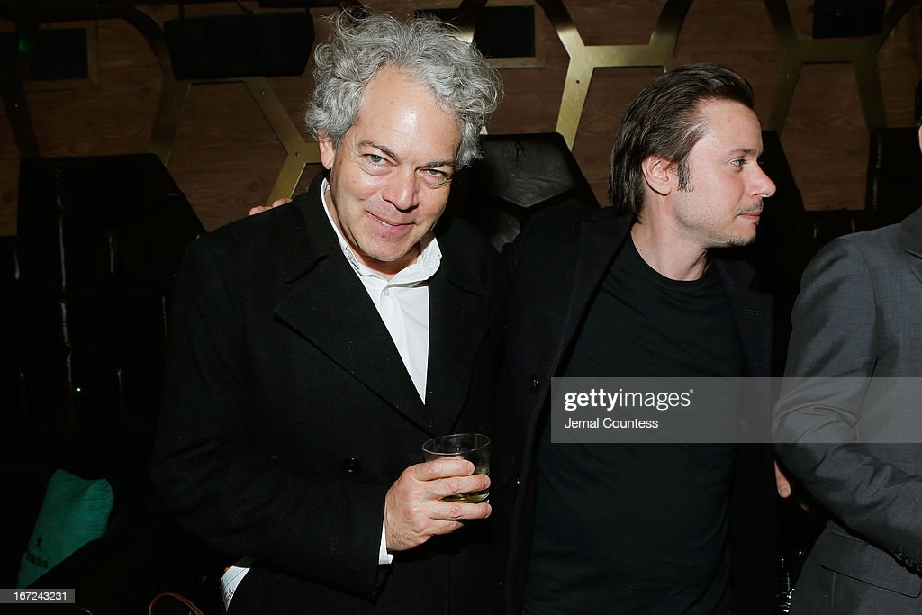 Director Michael Almereyda (L) and producer Thoma Kikis attend the Tribeca Film Festival 2013 After Party 'Before Midnight' sponsored by Heineken on April 22, 2013 in New York City.