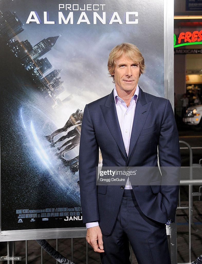 Director <a gi-track='captionPersonalityLinkClicked' href=/galleries/search?phrase=Michael+Bay&family=editorial&specificpeople=240532 ng-click='$event.stopPropagation()'>Michael Bay</a> arrives at the Los Angeles premiere of 'Project Almanac' at TCL Chinese Theatre on January 27, 2015 in Hollywood, California.
