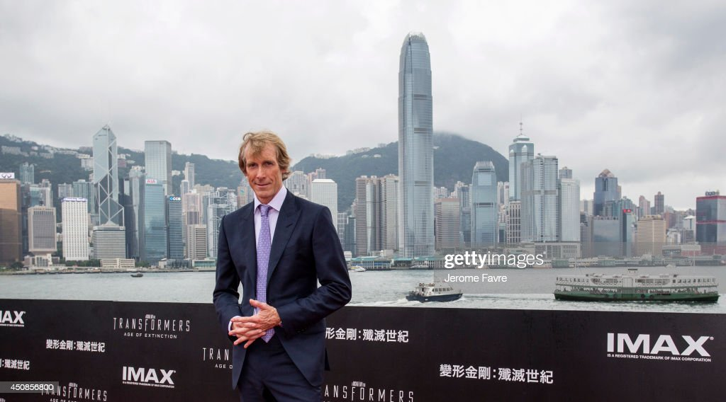 Director <a gi-track='captionPersonalityLinkClicked' href=/galleries/search?phrase=Michael+Bay&family=editorial&specificpeople=240532 ng-click='$event.stopPropagation()'>Michael Bay</a> arrives at the worldwide premiere screening of 'Transformers: Age of Extinction'at the on June 19, 2014 in Hong Kong.