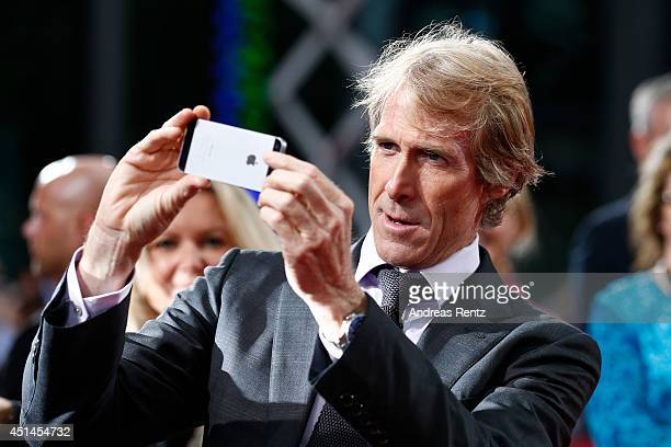 Director Michael Bay attends the european premiere of 'Transformers Age of Extinction' at Sony Centre on June 29 2014 in Berlin Germany