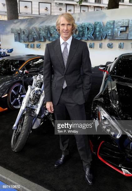Director Michael Bay attends the global premiere of 'Transformers The Last Knight' at Cineworld Leicester Square on June 18 2017 in London England