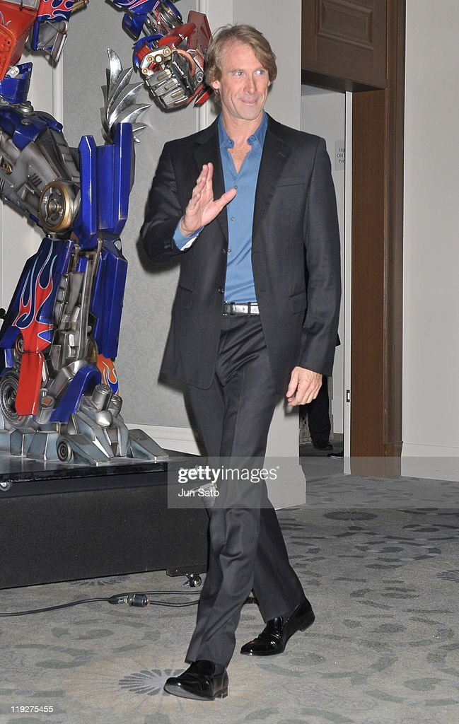 Director <a gi-track='captionPersonalityLinkClicked' href=/galleries/search?phrase=Michael+Bay&family=editorial&specificpeople=240532 ng-click='$event.stopPropagation()'>Michael Bay</a> attends the 'Transformers: Dark of the Moon' press conference at the St. Regis Hotel Osaka on July 16, 2011 in Osaka, Japan. The film will open on July 29 in Japan.