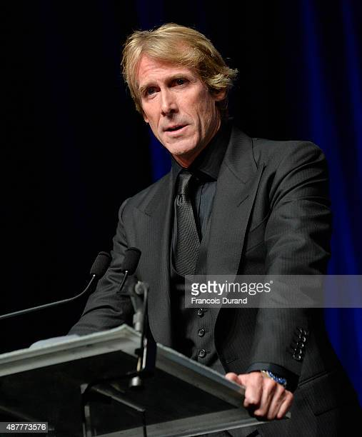 Director Michael Bay receives a tribute during the 41st Deauville American Film Festival on September 11 2015 in Deauville France