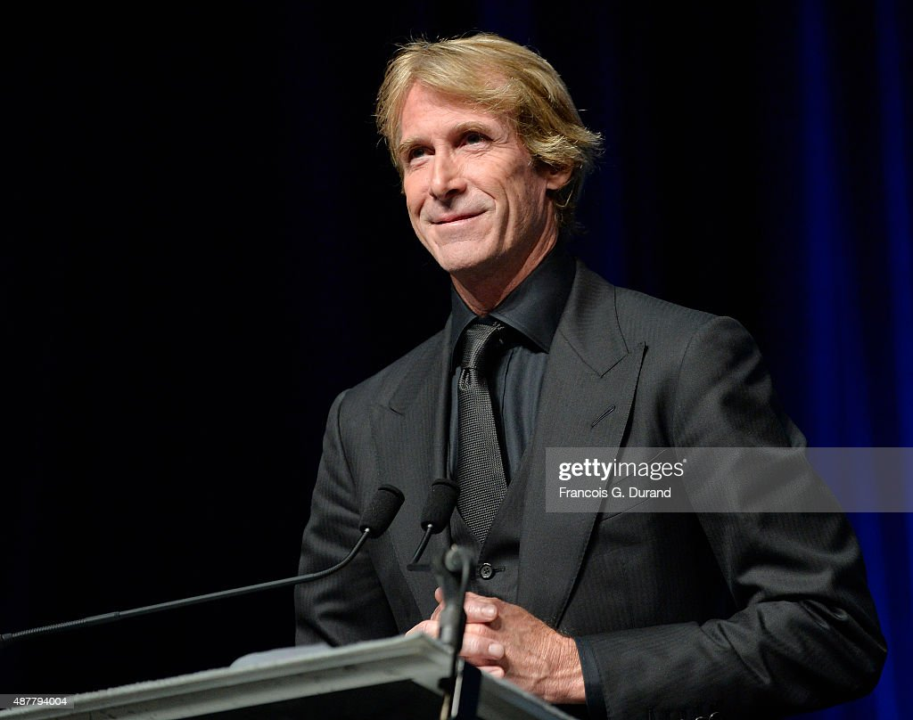 Director <a gi-track='captionPersonalityLinkClicked' href=/galleries/search?phrase=Michael+Bay&family=editorial&specificpeople=240532 ng-click='$event.stopPropagation()'>Michael Bay</a> receives a tribute during the 41st Deauville American Film Festival on September 11, 2015 in Deauville, France.