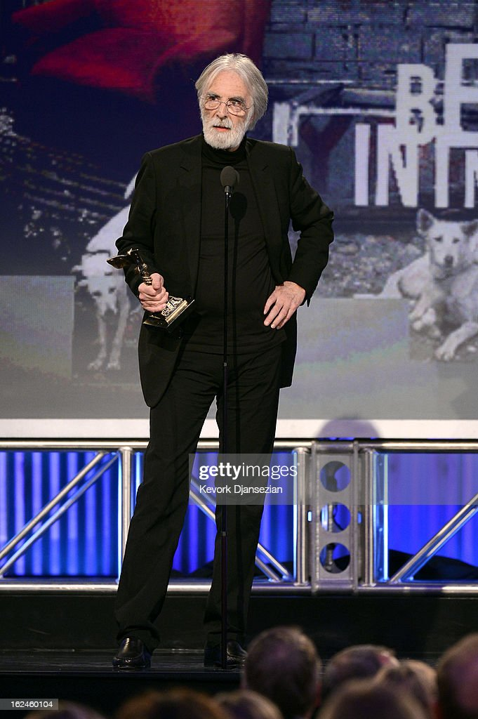 Director <a gi-track='captionPersonalityLinkClicked' href=/galleries/search?phrase=Michael+Haneke&family=editorial&specificpeople=233739 ng-click='$event.stopPropagation()'>Michael Haneke</a> accepts the award for Best Foreign Film onstage during the 2013 Film Independent Spirit Awards at Santa Monica Beach on February 23, 2013 in Santa Monica, California.