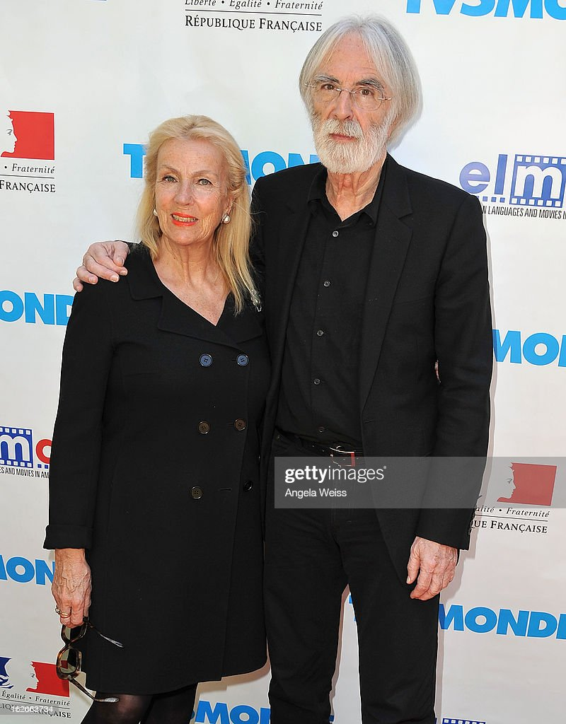 Director <a gi-track='captionPersonalityLinkClicked' href=/galleries/search?phrase=Michael+Haneke&family=editorial&specificpeople=233739 ng-click='$event.stopPropagation()'>Michael Haneke</a> (R) and his wife Susan Haneke attend an event hosted by the Consul General Of France, Mr. Axel Cruau, honoring the French nominees for the 85th Annual Academy Awards at the French Consulate's home on February 25, 2013 in Beverly Hills, California.