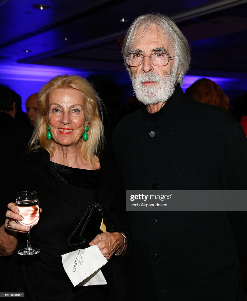 Director <a gi-track='captionPersonalityLinkClicked' href=/galleries/search?phrase=Michael+Haneke&family=editorial&specificpeople=233739 ng-click='$event.stopPropagation()'>Michael Haneke</a> (R) and his wife Susanne Haneke attend the Sony Pictures Classics Pre-Oscar Dinner at The London Hotel on February 23, 2013 in West Hollywood, California.