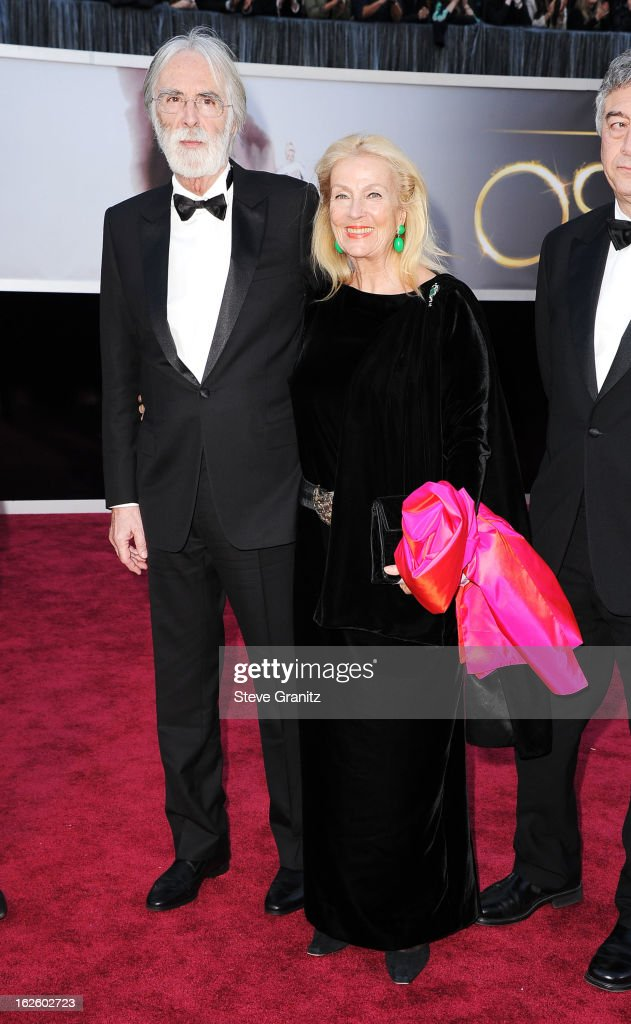 Director Michael Haneke and Susanne Haneke arrive at the Oscars at Hollywood & Highland Center on February 24, 2013 in Hollywood, California.