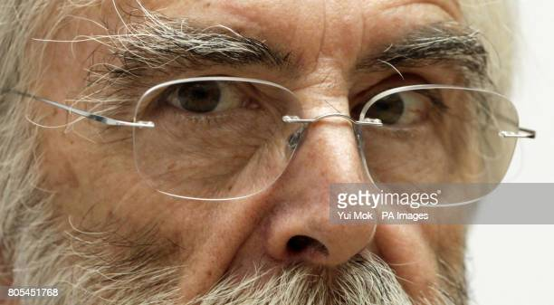 Director Michael Haneke attends a photocall to promote 'The White Ribbon' during London Film Festival at the Mayfair Hotel in central London