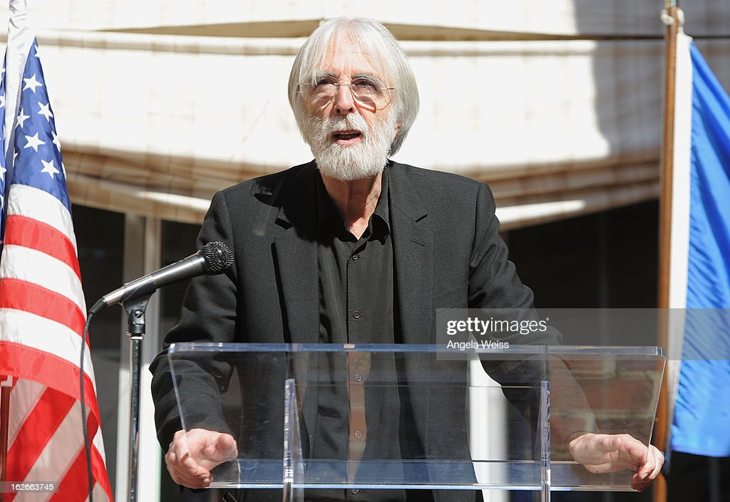 Director <a gi-track='captionPersonalityLinkClicked' href=/galleries/search?phrase=Michael+Haneke&family=editorial&specificpeople=233739 ng-click='$event.stopPropagation()'>Michael Haneke</a> attends an event hosted by the Consul General Of France, Mr. Axel Cruau, honoring the French nominees for the 85th Annual Academy Awards at the French Consulate's home on February 25, 2013 in Beverly Hills, California.