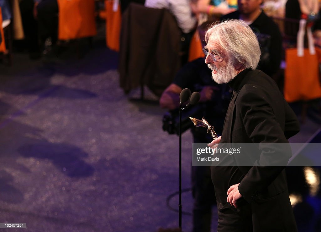 Director <a gi-track='captionPersonalityLinkClicked' href=/galleries/search?phrase=Michael+Haneke&family=editorial&specificpeople=233739 ng-click='$event.stopPropagation()'>Michael Haneke</a> attends the 2013 Film Independent Spirit Awards at Santa Monica Beach on February 23, 2013 in Santa Monica, California.