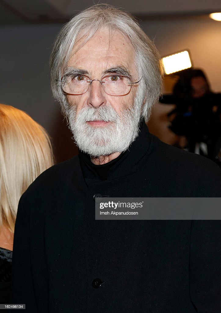 Director <a gi-track='captionPersonalityLinkClicked' href=/galleries/search?phrase=Michael+Haneke&family=editorial&specificpeople=233739 ng-click='$event.stopPropagation()'>Michael Haneke</a> attends the Sony Pictures Classics Pre-Oscar Dinner at The London Hotel on February 23, 2013 in West Hollywood, California.