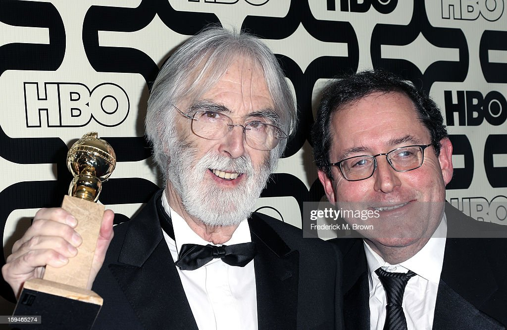 Director <a gi-track='captionPersonalityLinkClicked' href=/galleries/search?phrase=Michael+Haneke&family=editorial&specificpeople=233739 ng-click='$event.stopPropagation()'>Michael Haneke</a>and guest attend HBO's Post 2013 Golden Globe Awards Party held at Circa 55 Restaurant at the Beverly Hilton Hotel on January 13, 2013 in Beverly Hills, California.