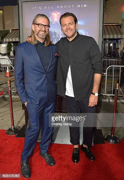 Director Michael John Warren and musician Joel Houston attend the 'Hillsong Let Hope Rise' premiere at the Westwood Village theater on September 13...