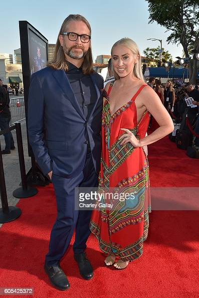 Director Michael John Warren and Whitney Sprayberry attend the 'Hillsong Let Hope Rise' premiere at the Westwood Village theater on September 13 2016...