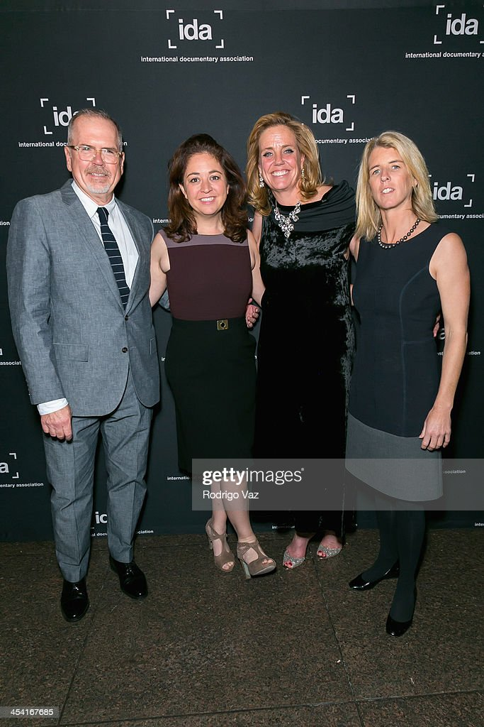 Director Michael Lumpkin and producers <a gi-track='captionPersonalityLinkClicked' href=/galleries/search?phrase=Liz+Garbus&family=editorial&specificpeople=664031 ng-click='$event.stopPropagation()'>Liz Garbus</a>, Geralyn Dreyfous and <a gi-track='captionPersonalityLinkClicked' href=/galleries/search?phrase=Rory+Kennedy&family=editorial&specificpeople=210525 ng-click='$event.stopPropagation()'>Rory Kennedy</a> attend the International Documentary Association's 2013 IDA Documentary Awards at Directors Guild of America on December 6, 2013 in Los Angeles, California.