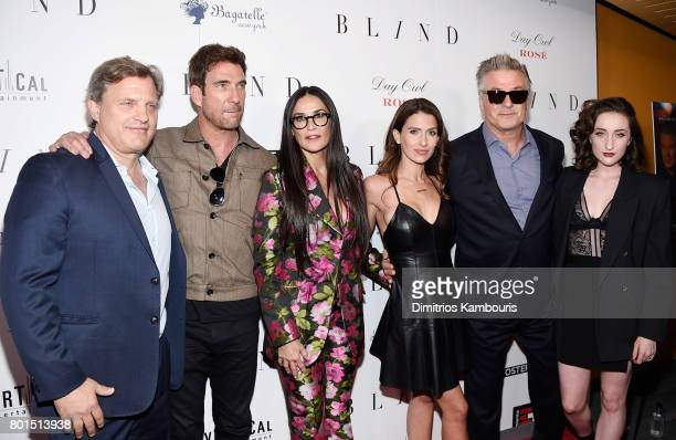 Director Michael Mailer Dylan McDermott Demi Moore Hilaria Thomas Alec Baldwin and Eden Epstein attend the 'Blind' premiere at Landmark Sunshine...