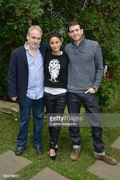 Director Michael Maren actress Emmanuelle Chriqui and actor Bryan Greenberg attend the 21st Annual Hamptons International Film Festival on October 13...