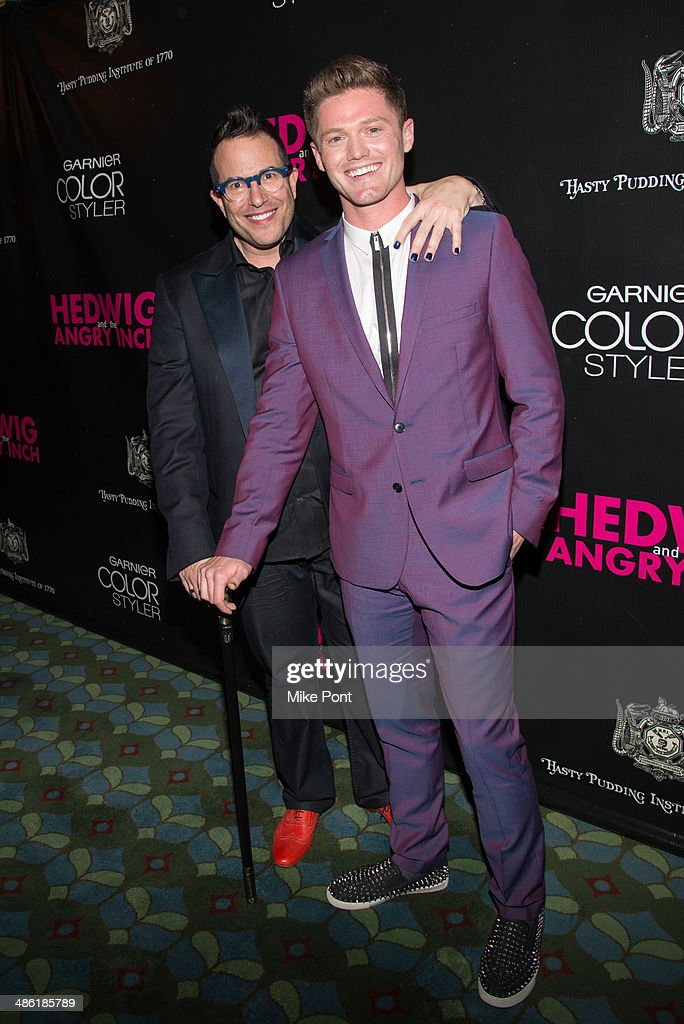 Director <a gi-track='captionPersonalityLinkClicked' href=/galleries/search?phrase=Michael+Mayer&family=editorial&specificpeople=213390 ng-click='$event.stopPropagation()'>Michael Mayer</a> and Choreographer Spencer Liff attend the Broadway opening night of 'Hedwig And The Angry Inch' at the Belasco Theatre on April 22, 2014 in New York City.