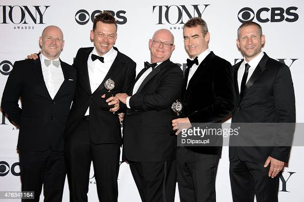 Director Michael Morris author Simon Stephens and cast and creative of 'The Curious Incident of the Dog in the NightTime' winner of the award for...