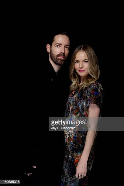 Director Michael Polish and actress Kate Bosworth are photographed at the Sundance Film Festival for Los Angeles Times on January 22 2013 in Park...