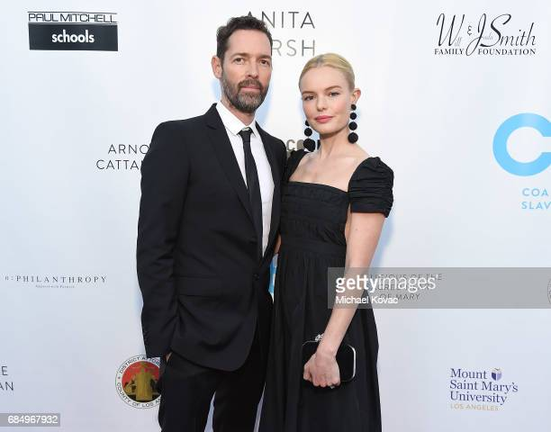 Director Michael Polish and actress Kate Bosworth attend the 19th Annual Slavery To Freedom Gala at Skirball Cultural Center on May 18 2017 in Los...