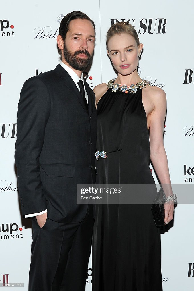 Director Michael Polish and actress Kate Bosworth attend the 'Big Sur' premiere at Sunshine Landmark on October 28, 2013 in New York City.