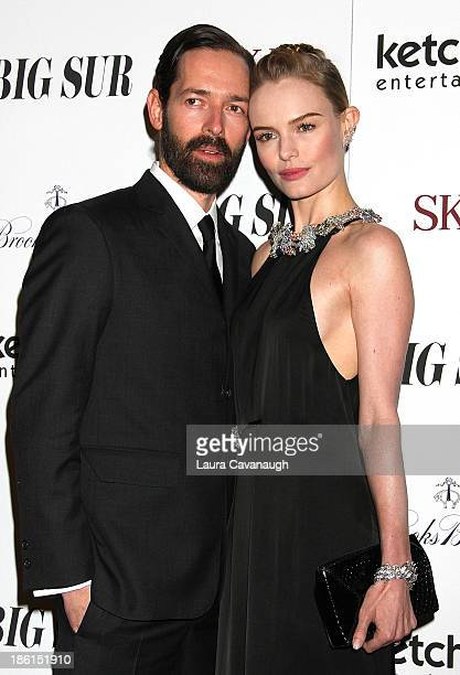 Director Michael Polish and actress Kate Bosworth attend the 'Big Sur' premiere at Sunshine Landmark on October 28 2013 in New York City