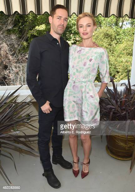 Director Michael Polish and actress Kate Bosworth attend the launch of Kate Bosworth Samantha Russ' Style Thief Fashion App at Chateau Marmont on...