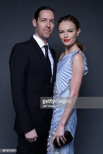 Director Michael Polish and actress Kate Bosworth pose for a Wonderwall portrait at The Art of Elysium's 7th Annual HEAVEN Gala presented by...