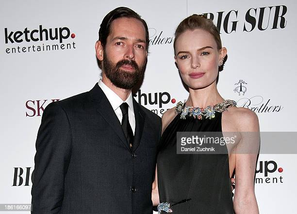 Director Michael Polish and Kate Bosworth attend the 'Big Sur' premiere at Sunshine Landmark on October 28 2013 in New York City