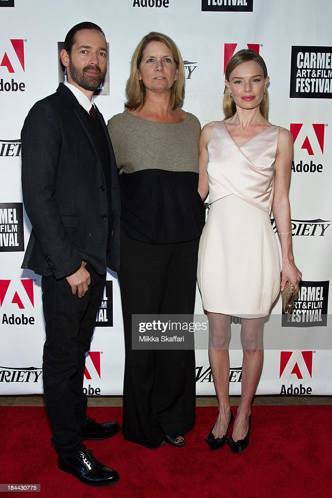 Director <a gi-track='captionPersonalityLinkClicked' href=/galleries/search?phrase=Michael+Polish&family=editorial&specificpeople=3204536 ng-click='$event.stopPropagation()'>Michael Polish</a>, festival co-founder Erin Clark and actress <a gi-track='captionPersonalityLinkClicked' href=/galleries/search?phrase=Kate+Bosworth&family=editorial&specificpeople=201616 ng-click='$event.stopPropagation()'>Kate Bosworth</a> attend the 5th Annual Carmel Art & Film Festival at Sunset Cultural Arts Center on October 13, 2013 in Carmel, California.