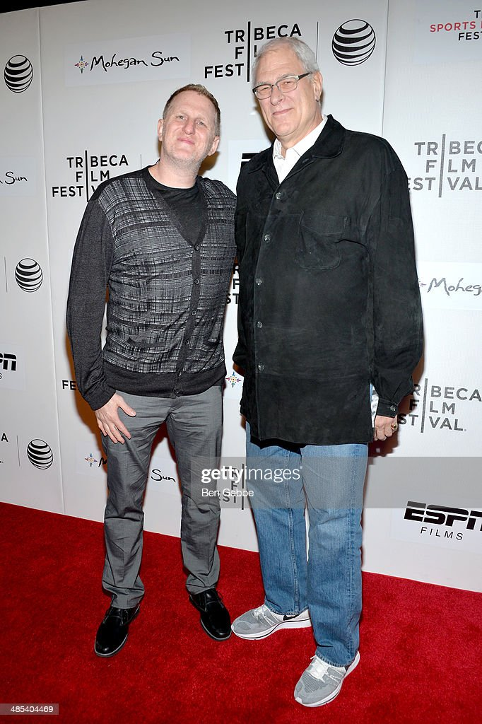 Director <a gi-track='captionPersonalityLinkClicked' href=/galleries/search?phrase=Michael+Rapaport&family=editorial&specificpeople=234353 ng-click='$event.stopPropagation()'>Michael Rapaport</a> (L) and president of the New York Knicks <a gi-track='captionPersonalityLinkClicked' href=/galleries/search?phrase=Phil+Jackson&family=editorial&specificpeople=201756 ng-click='$event.stopPropagation()'>Phil Jackson</a> attend the Tribeca/ESPN Sports Film Festival Gala: 'When The Garden Was Eden' during the 2014 Tribeca Film Festival at BMCC Tribeca PAC on April 17, 2014 in New York City.