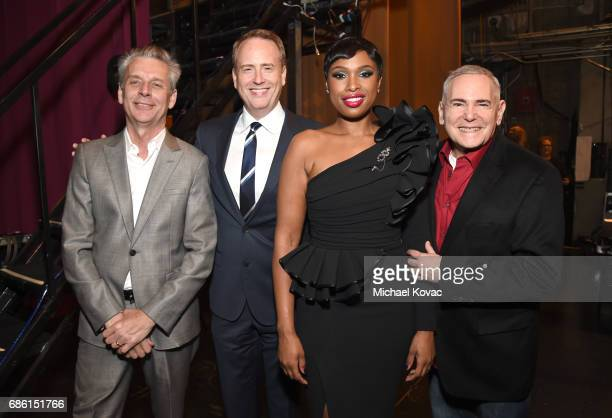 Director Michael Ritchie chairman of NBC Robert Greenblatt singer/actress Jennifer Hudson and executive producer Craig Zadan at the Center Theatre...