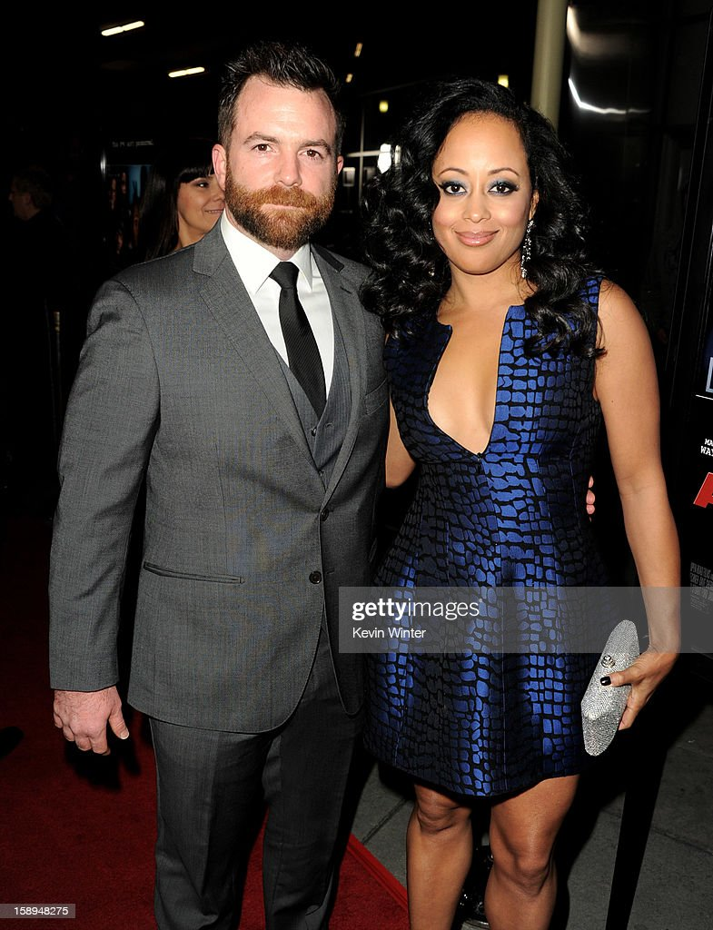 Director Michael Tiddes (L) and actress Essence Tiddes arrives at the premiere of Open Road Films' 'A Haunted House' at the Arclight Theatre on January 3, 2013 in Los Angeles, California.
