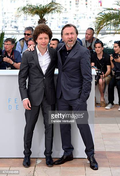 Director Michel Franco and actor Tim Roth attend the 'Chronic' Photocall during the 68th annual Cannes Film Festival on May 22 2015 in Cannes France
