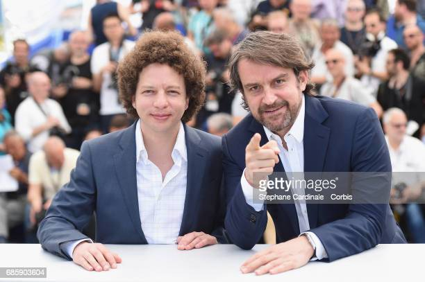 Director Michel Franco and Lorenzo Vigas attend the 'April's Daughter' photocall during the 70th annual Cannes Film Festival at Palais des Festivals...