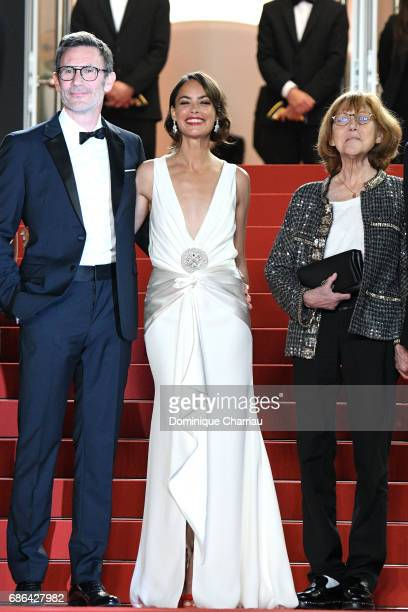 Director Michel Hazanavicius actors Berenice Bejo and Anne Wiazemsky attend the 'Redoubtable ' screening during the 70th annual Cannes Film Festival...