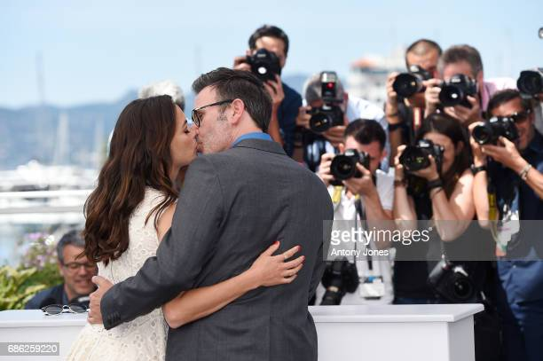 Director Michel Hazanavicius and actress Berenice Bejo attend the 'Redoutable ' photocall during the 70th annual Cannes Film Festival at Palais des...
