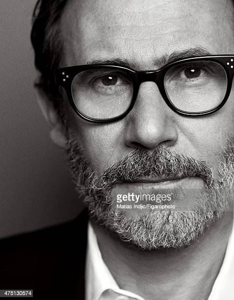 Director Michel Hazanavicius is photographed for Madame Figaro on January 18 2015 in Paris France Jacket and shirt Makeup by Givenchy Le Make Up...